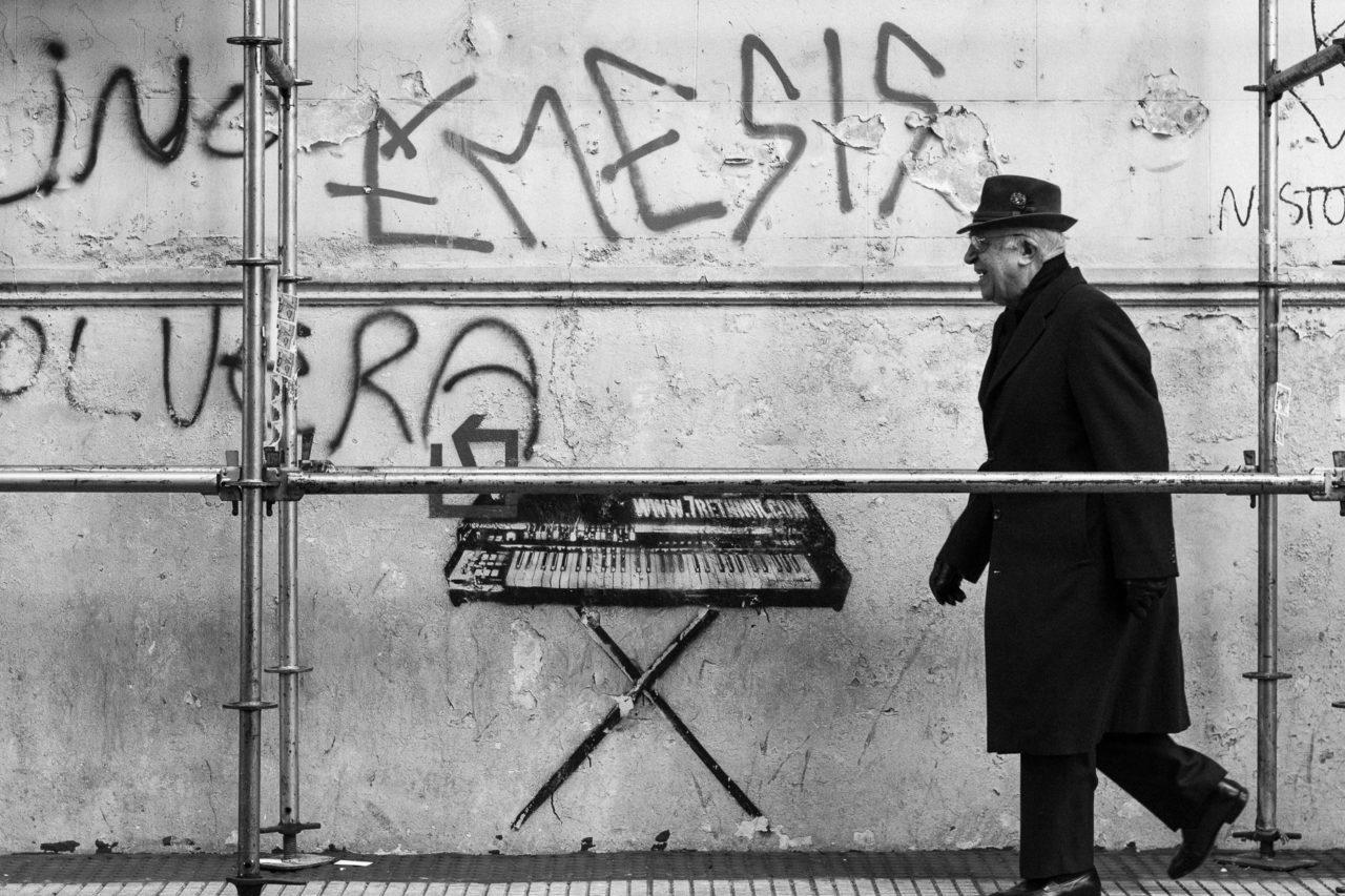 L'homme au clavier -Buenos Aires, province de Buenos Aires, Argentine, Amérique du Sud.